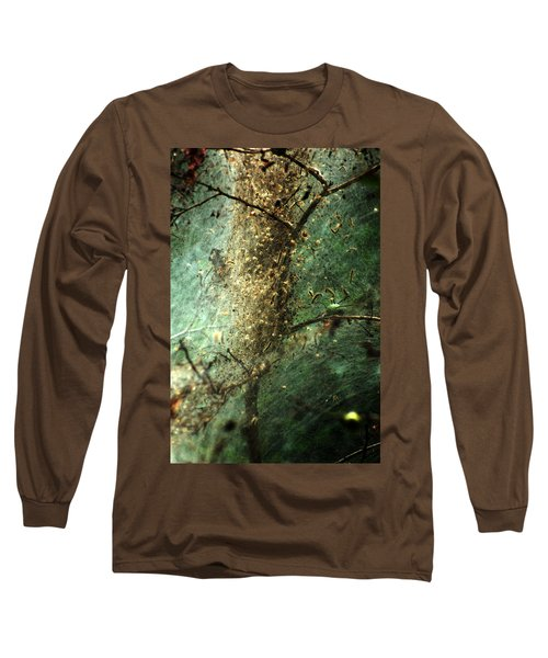 Natures Past Captured In A Web Long Sleeve T-Shirt