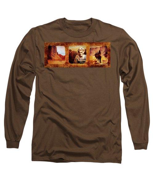 Navajo Triptych  Long Sleeve T-Shirt