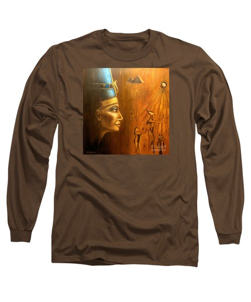 Nefertiti Long Sleeve T-Shirt by Arturas Slapsys