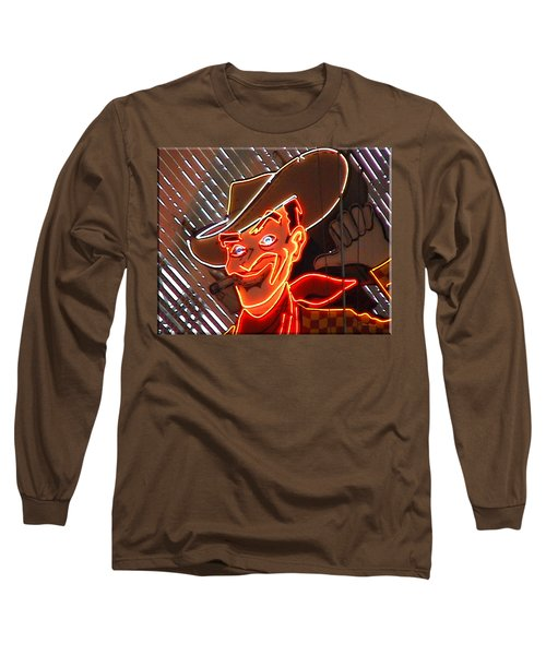 Neon Cowboy Of  Las Vegas Long Sleeve T-Shirt