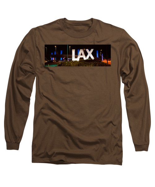 Neon Sign At An Airport, Lax Airport Long Sleeve T-Shirt