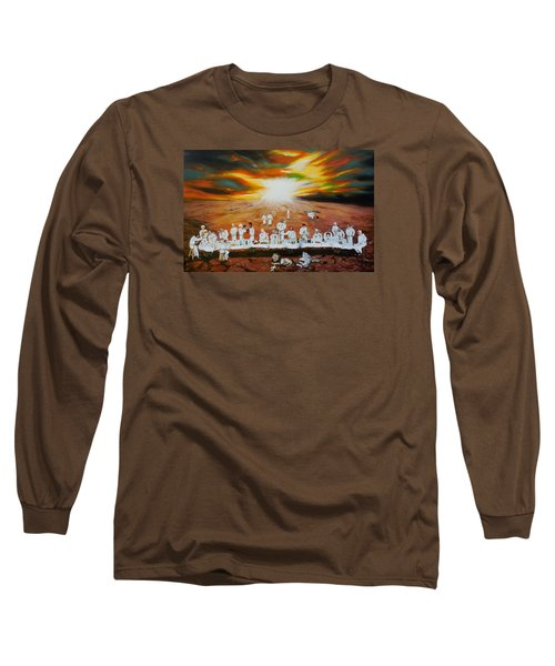 Never Ending Last Supper Long Sleeve T-Shirt by Raymond Perez