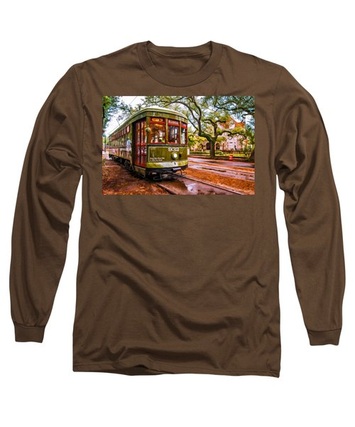 New Orleans Classique Oil Long Sleeve T-Shirt by Steve Harrington