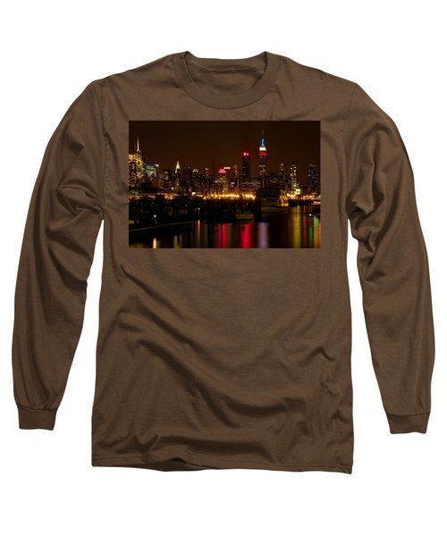 Long Sleeve T-Shirt featuring the photograph New York City by Dave Files