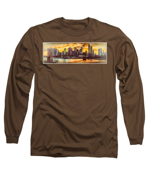 New York City Summer Panorama Long Sleeve T-Shirt