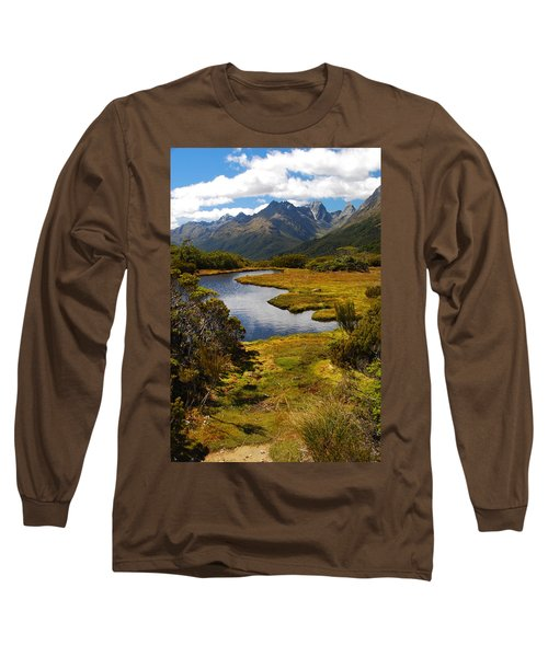New Zealand Alpine Landscape Long Sleeve T-Shirt