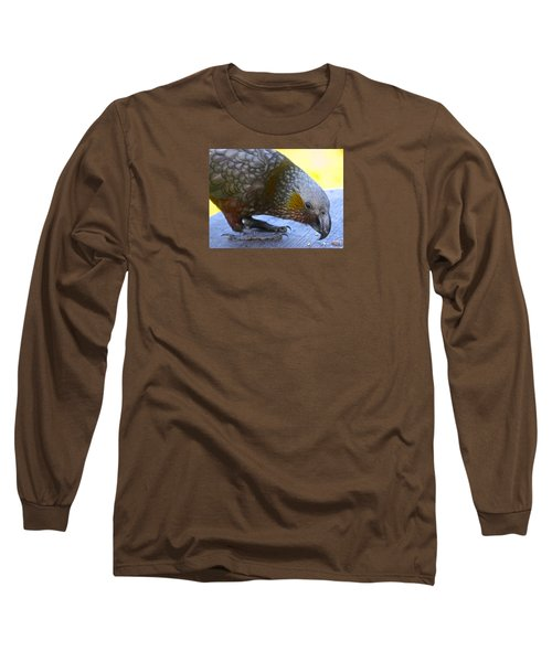 New Zealand Kaka Happy Hour Long Sleeve T-Shirt by Venetia Featherstone-Witty