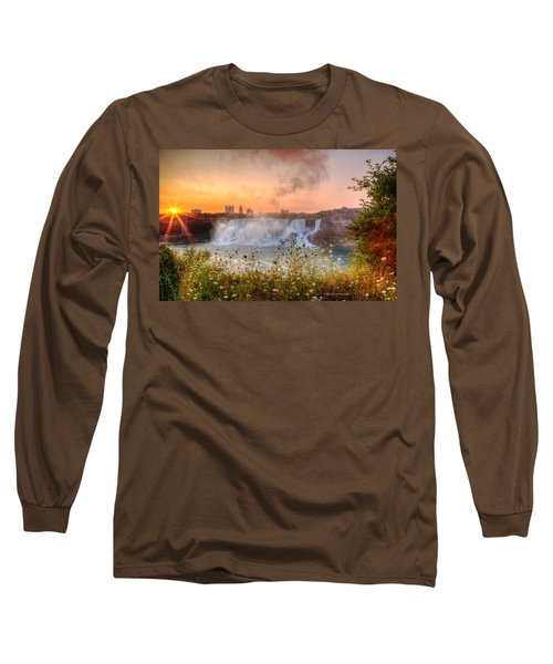 Niagara Falls Canada Sunrise Long Sleeve T-Shirt