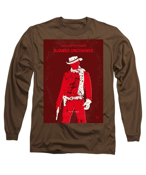 No184 My Django Unchained Minimal Movie Poster Long Sleeve T-Shirt