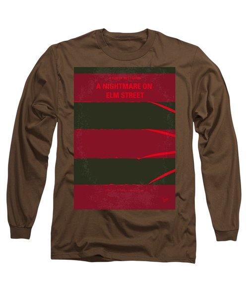 No265 My Nightmare On Elmstreet Minimal Movie Poster Long Sleeve T-Shirt by Chungkong Art