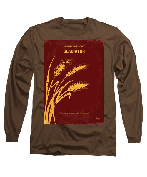 No300 My Gladiator Minimal Movie Poster Long Sleeve T-Shirt