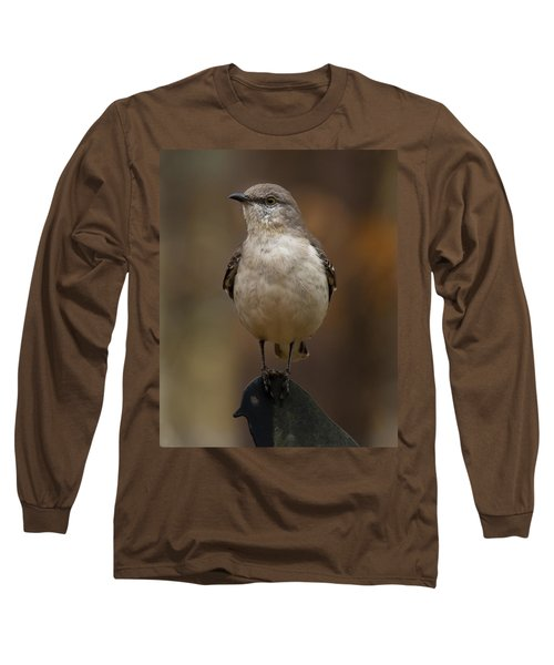 Northern Mockingbird Long Sleeve T-Shirt by Robert L Jackson