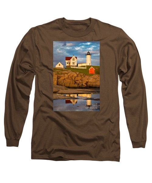 Nubble Lighthouse No 1 Long Sleeve T-Shirt by Jerry Fornarotto