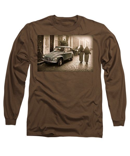Nuns With Vintage Car Long Sleeve T-Shirt