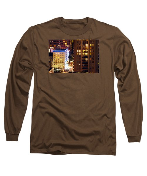 Long Sleeve T-Shirt featuring the photograph Observation - Man In Window Dclxxxi by Amyn Nasser
