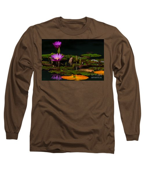 October Lilies 2 Long Sleeve T-Shirt