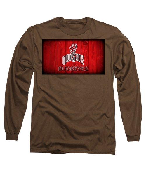 Ohio State Buckeyes Barn Door Vignette Long Sleeve T-Shirt