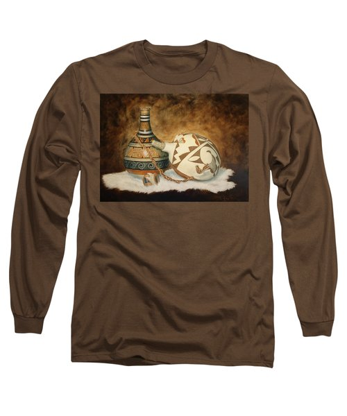 Oil Painting - Indian Pots Long Sleeve T-Shirt
