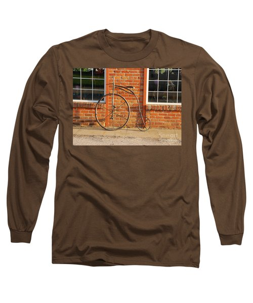 Old Bike Long Sleeve T-Shirt by Mary Carol Story