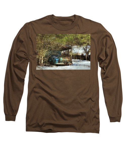 Old Blue Tucked Away Long Sleeve T-Shirt by Benanne Stiens