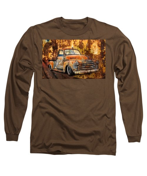 Old Chevy Rust Long Sleeve T-Shirt by Steve McKinzie