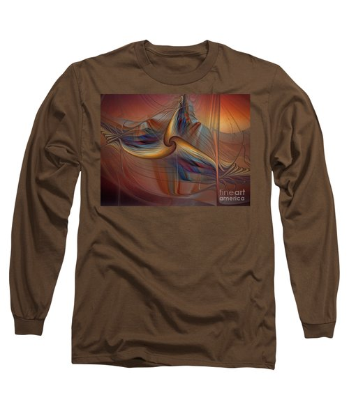 Old-fashionened Swing Boat In The Afterglow Long Sleeve T-Shirt