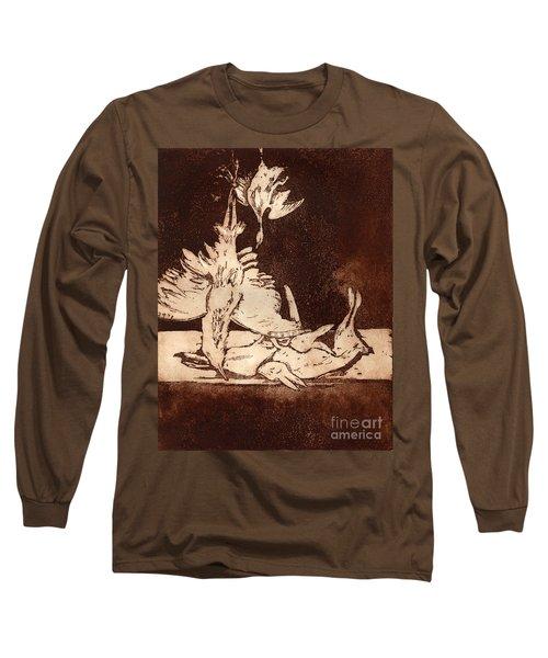 Old Masters Still Life - With Great Bittern Duck Rabbit - Nature Morte - Natura Morta - Still Life Long Sleeve T-Shirt