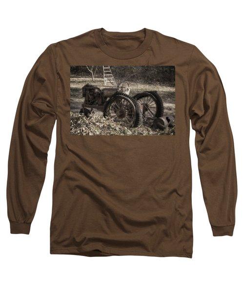 Old Tractor Long Sleeve T-Shirt by Lynn Geoffroy
