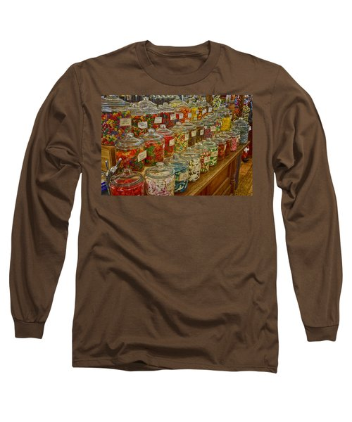 Old Village Mercantile Caledonia Mo Candy Jars Dsc04014 Long Sleeve T-Shirt by Greg Kluempers