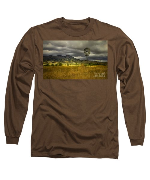 Old Windmill Long Sleeve T-Shirt by Robert Bales