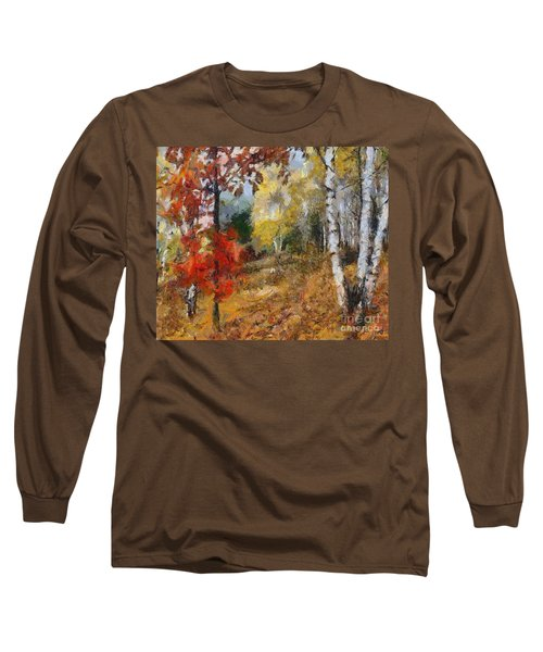 On The Edge Of The Forest Long Sleeve T-Shirt by Dragica  Micki Fortuna