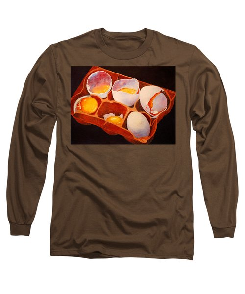Long Sleeve T-Shirt featuring the painting One Good Egg by Roger Rockefeller