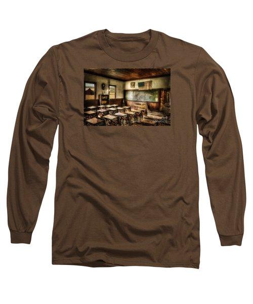 One Room School Long Sleeve T-Shirt by Lois Bryan