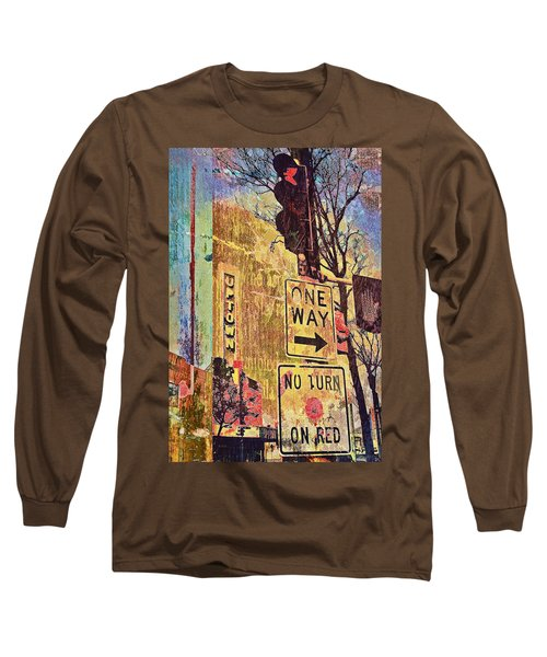 One Way To Uptown Long Sleeve T-Shirt by Susan Stone