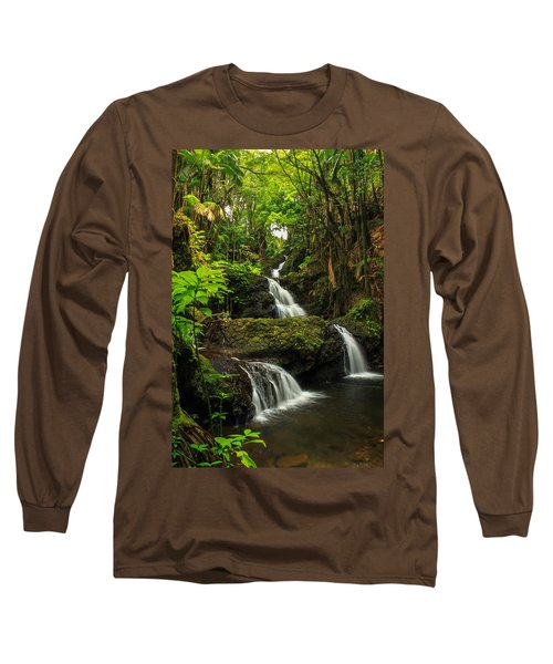 Onomea Falls Long Sleeve T-Shirt by James Eddy