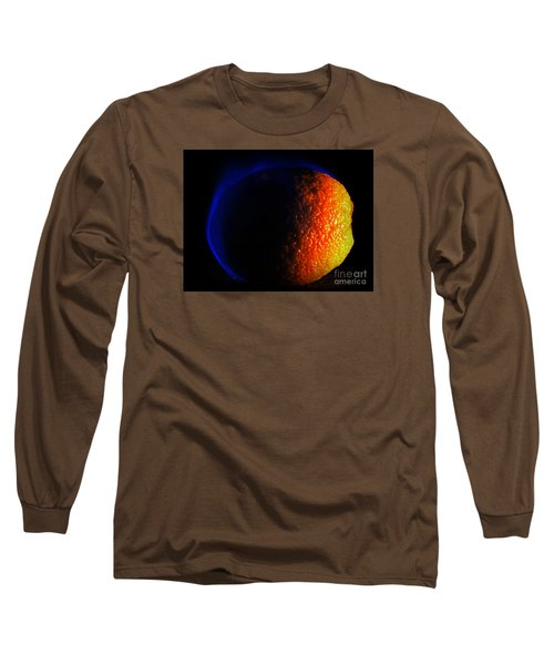 Orange And Blue Long Sleeve T-Shirt by Paul  Wilford