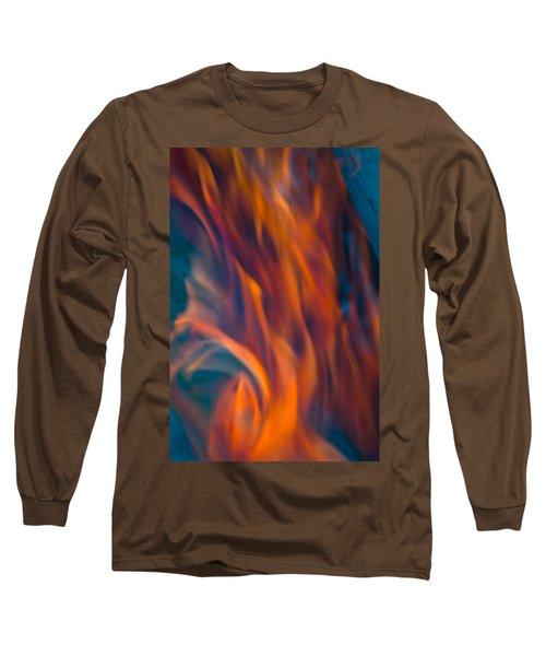 Orange Fire Long Sleeve T-Shirt