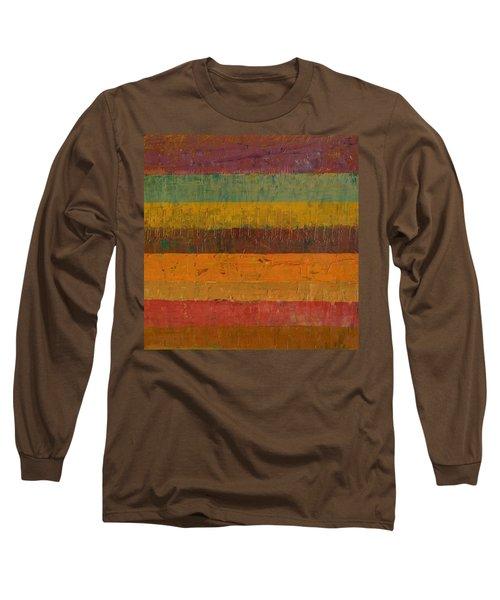 Orange Line Long Sleeve T-Shirt