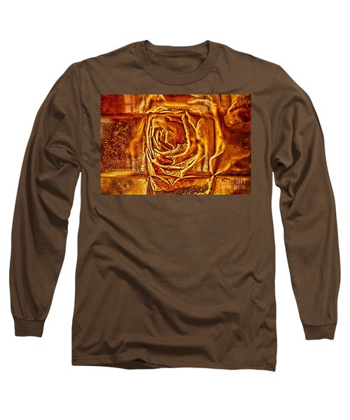 Long Sleeve T-Shirt featuring the photograph Orange Rose by Omaste Witkowski