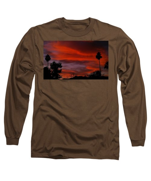 Orange Sky Long Sleeve T-Shirt by Chris Tarpening