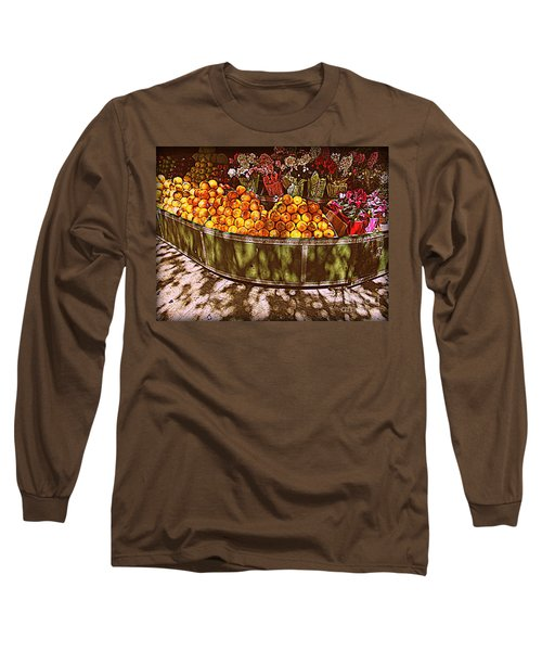 Long Sleeve T-Shirt featuring the photograph Oranges And Flowers by Miriam Danar