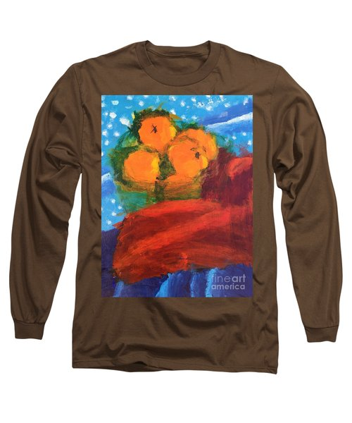Long Sleeve T-Shirt featuring the painting Oranges by Donald J Ryker III