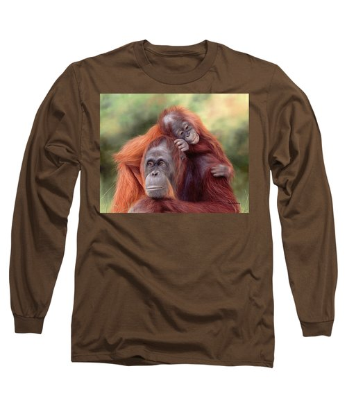 Orangutans Painting Long Sleeve T-Shirt