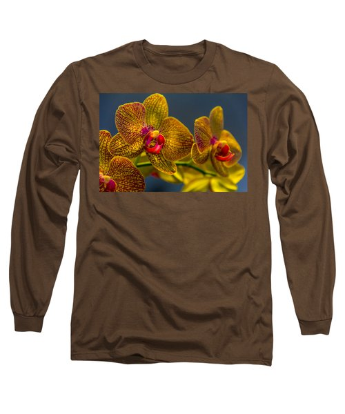 Orchid Color Long Sleeve T-Shirt by Marvin Spates