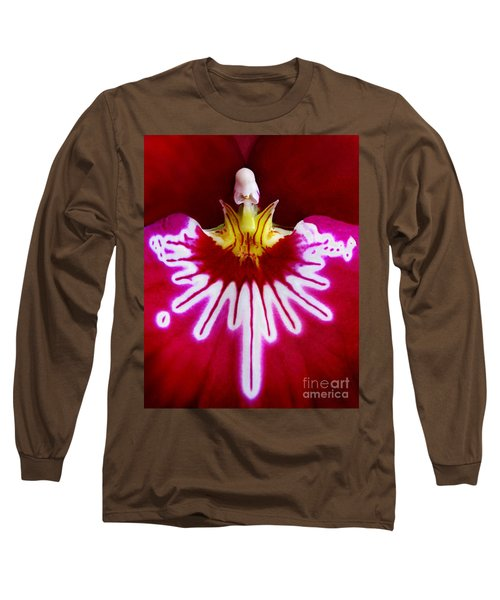 Long Sleeve T-Shirt featuring the photograph Orchid Harlequinn-pansy Orchid by Jennie Breeze