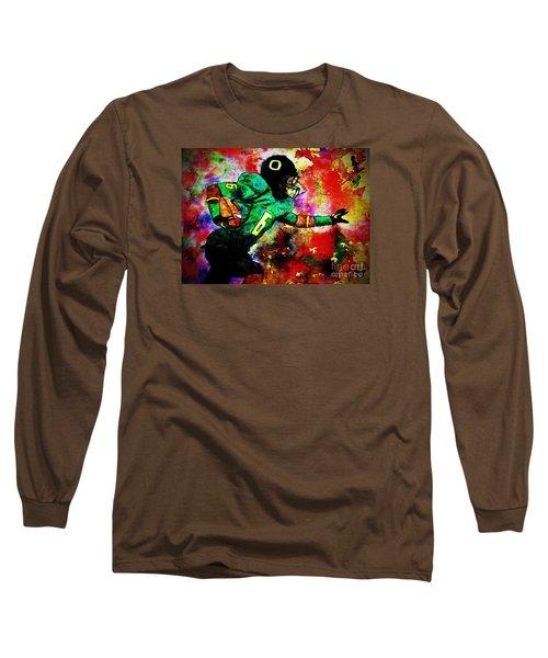 Oregon Football 3 Long Sleeve T-Shirt by Michael Cross