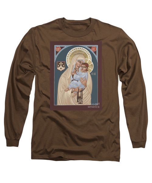Long Sleeve T-Shirt featuring the painting Our Lady Of Mt. Carmel 255 by William Hart McNichols