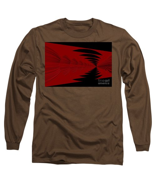 Red And Black Design Long Sleeve T-Shirt