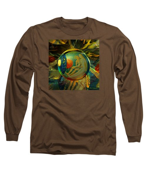 Long Sleeve T-Shirt featuring the painting Ovule Of Eden  by Robin Moline