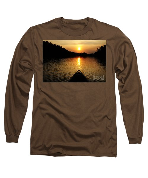 Paddling Off Into The Sunset Long Sleeve T-Shirt by Larry Ricker
